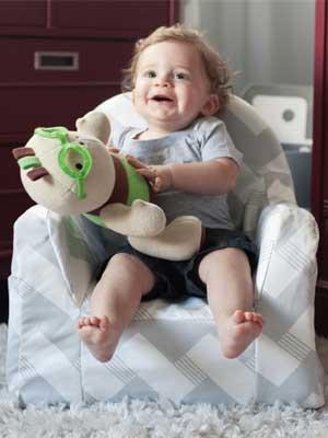 Little Reader Toddler Chair Chevron Grey