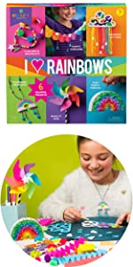 rainbow craft kit for kids colorful pinata garland necklace suncatcher crafts easy kit