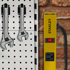 Stanley Wall Mountable mount to any wall for convenience always have a place to plug in your tools