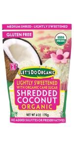Lightly Sweetened Shredded Coconut