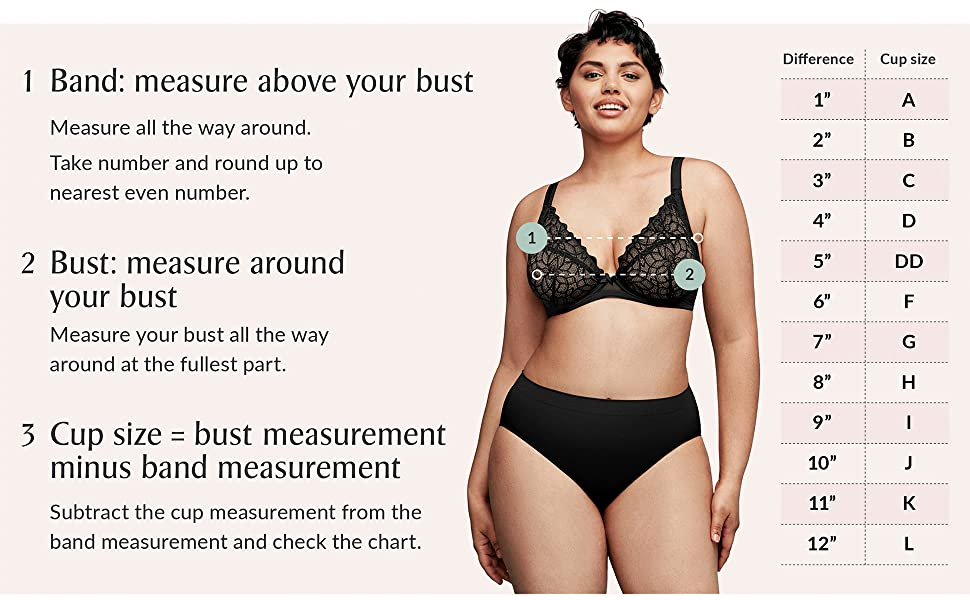 how to measure my band size bra size bust size cup size