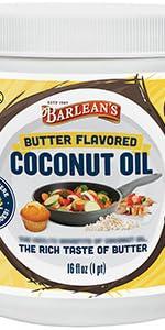 butter flavored coconut oil vegan organic non-gmo grill bake cook