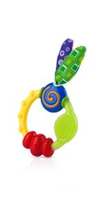 Nuby 2 Piece Wacky Teething Ring