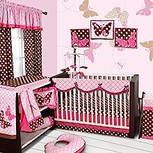 10 pc crib set with crib rail guard