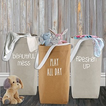 laundry;basket;folding;travel;collapsible;for nursery;dorm;toy;storage;organizer;shower gift