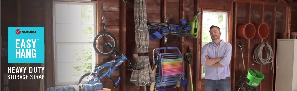 Easy Hang storage straps, heavy duty storage straps, garage straps