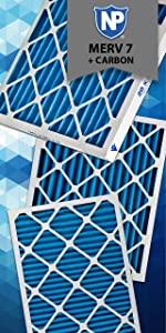 Nordic Pure, Air Filter, Odor Control, Carbon, Plus Carbon, Odors