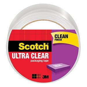 Scotch Ultra Clear Packaging Tape, clean finish