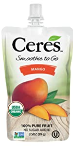 mango Smoothie organic squeeze smoothie pouch