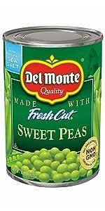 del monte sweet peas, canned sweet peas