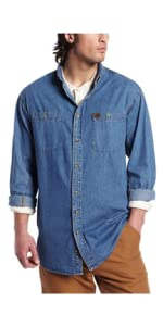 RIGGS Long Sleeve Denim Work Shirt