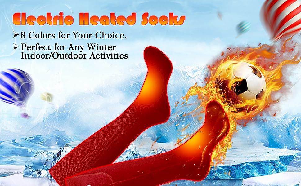 Thicken Sock Winter Men Women Unisex Rechargeable Electric Heated Warmer Outdoor