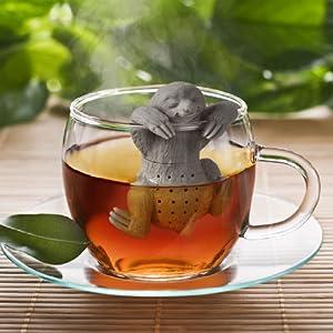sloth, tea, tea infuser, tea, loose leaf, mug, fred, silicone, cute, mug