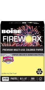 Boise Fireworx Premium Multi-Use Colored Paper
