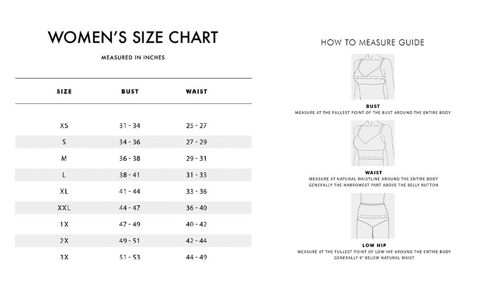 womens sizes