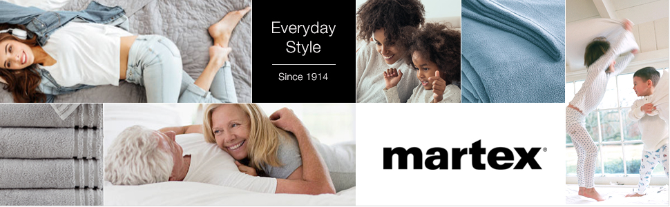 martex everyday style comfort quality family home bed bedding bath towel sheet blanket warm cozy