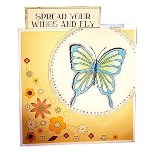 Butterfly card art