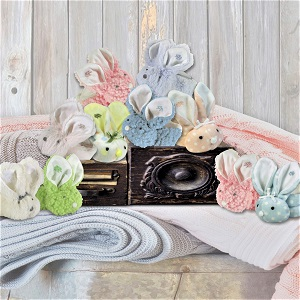 Boo Bunnies;washable stuffed animals;shower gift;for boys;girls;plush