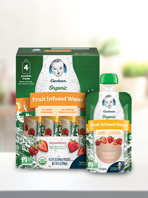 Gerber Purees Organic Fruit Infused Water