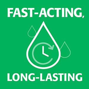 fast acting, long lasting, eye drops