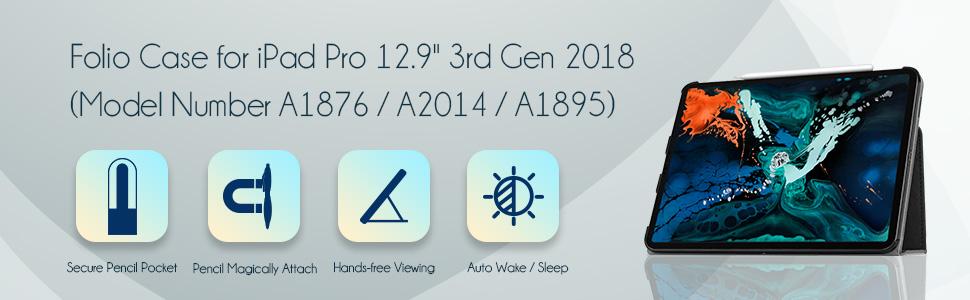 iPad Pro 12.9 2018 Folio Case