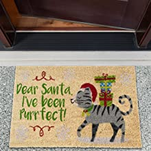 cat gray laundry room coco coir funny camping owl winter rustic garage doormats entrance way