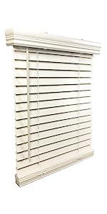 24 x 72 faux wood blinds, door blinds, outside  mount blinds