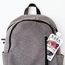 noka in backpack