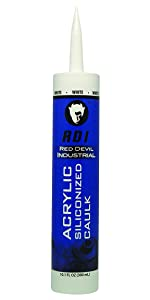 Red Devil 08460I RD Pro Construction Grade Siliconized Acrylic Sealant, 10.1 oz., White