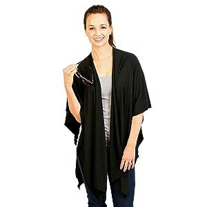 bamboobies nursing shawl open
