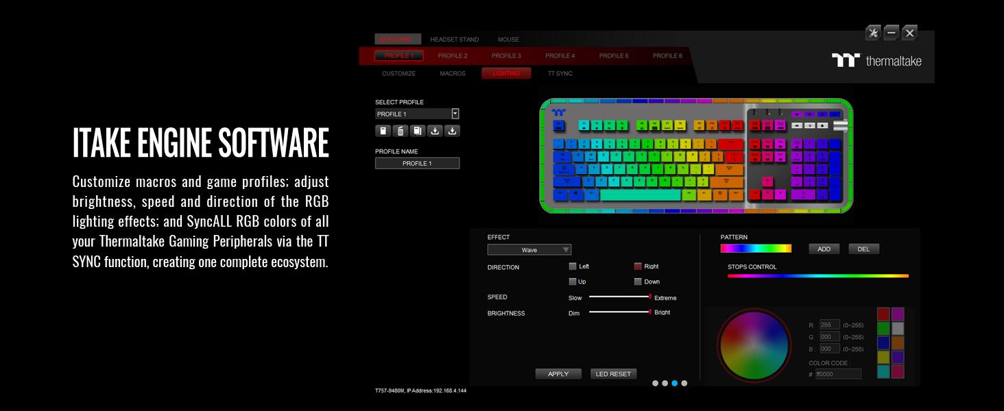 ARGENT K5 RGB Gaming Keyboard Cherry MX Speed Silver