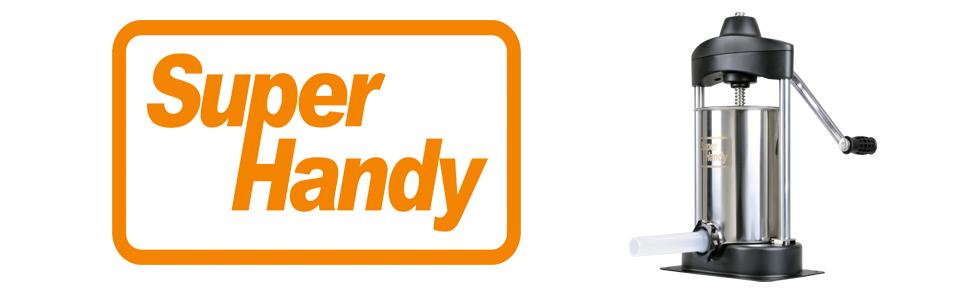 7//8 et 1-1//4 Diam/ètre Farce Tubes SuperHandy Elite Super Heavy Duty Commercial 5 LBS en Acier Inoxydable Saucisse Stuffer//Remplissage//Maker Comprend 3 3//4