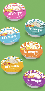 Six tubs of Lil Soups complements