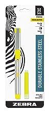 zebra highlighter, stainless steel highlighter with bonus refill, H-301