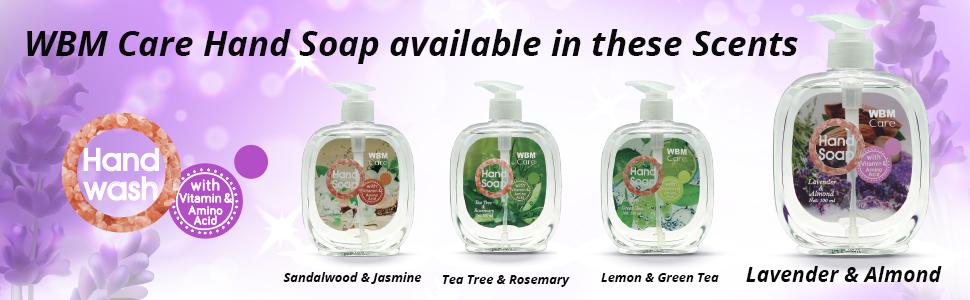 natural hand soap, antibacterial hand soap, antibacterial hand wash, wbm hand soap, liquid soap