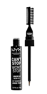NYX Professional Makeup Can't Stop Won't Stop Longwear Brow Kit​, brow kit, nyx cosmetics
