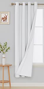total white blackout curtains