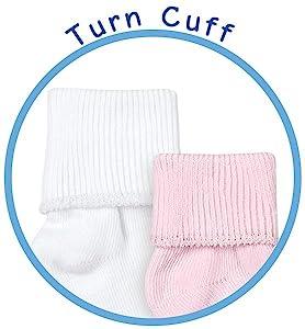 Jefferies Socks newborn, baby, girl, boy turn cuff socks