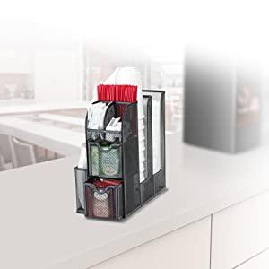 Coffee condiments caddy