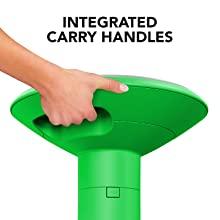 storex wiggle wobble stool chair handles green