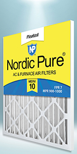 Nordic Pure, Air Filter, Air Conditioning, Furnace, Filters, AC