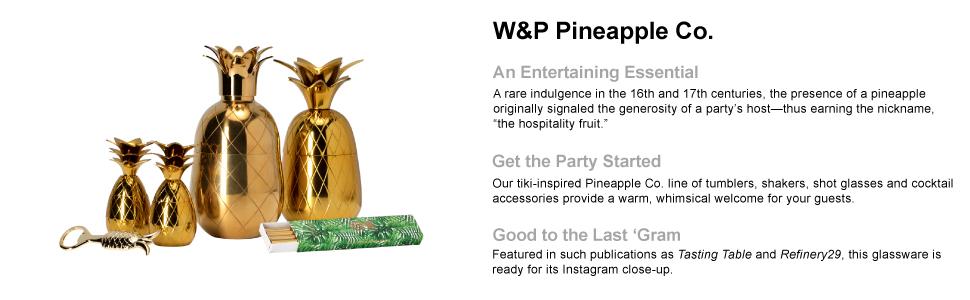 pineapple shot glass, pineapple gold, pineapple cocktail, pineapple cocktail shaker,