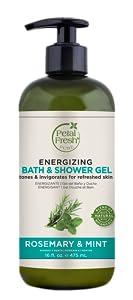 Petal Fresh, Bath & Shower Gel, Natural Beauty, Natural Ingredients, Cleansing Gel, Rosemary, Mint