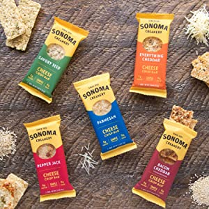 Sonoma Creamery Cheese Crisps are a low carb and protein packed portable baked healthy snack.