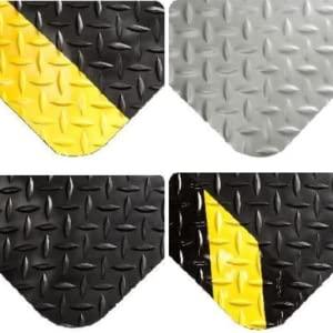 Diamond plate, fatigue mat, comfort mat, mat colors, grey mat, work mat,  workstation, safety mat