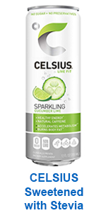 CELSIUS Sweetened with Stevia