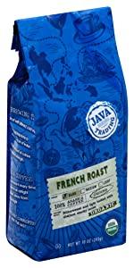 java trading french roast dark ground bag