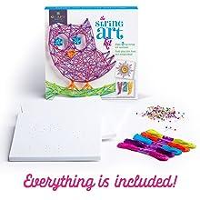 easy room decor string art fun craft kit for kids creative craft kit for girls gift for kids ages 10