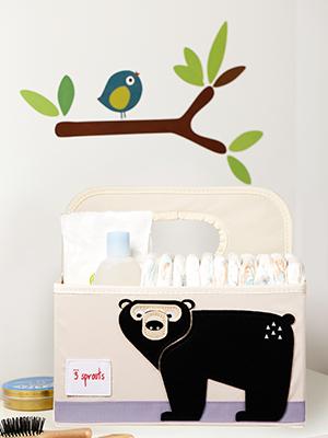bear diaper caddy