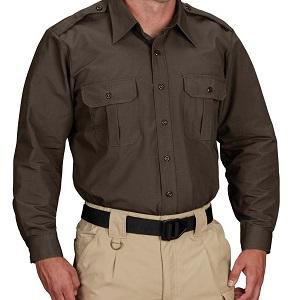 Tactical Dress Shirt Brown